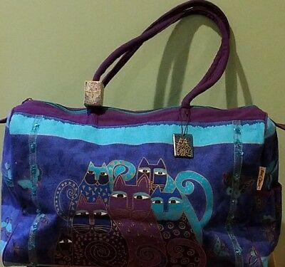 COLLECTIBLE!  Laurel Burch Duffel/Carry-On Zipper Bag, Canvas, Xtra Large, NEW
