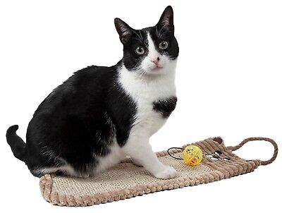 Pet Life Eco-Natural Sisal And Jute Hanging Carpet Kitty Cat Scratcher Toy