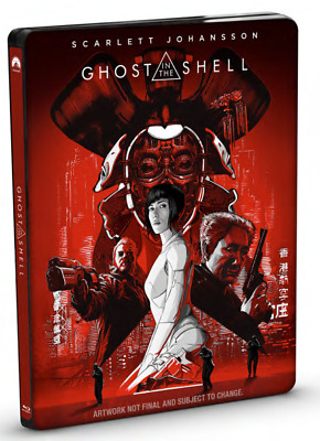 Ghost In The Shell Limited Edition Steelbook 2D Blu Ray + Bonus Blu Ray