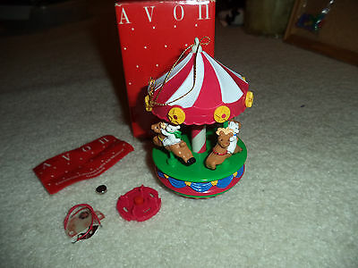 Vintage Avon CHRISTMAS LIGHT-UP MUSICAL ORNAMENT - CHRISTMAS CAROUSEL