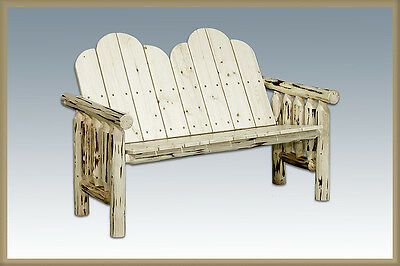 Outstanding Rustic Outdoor Log Benches Amish Made Bench Lodge Cabin Creativecarmelina Interior Chair Design Creativecarmelinacom