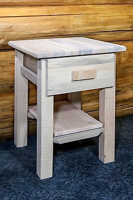 Farmhouse Style Night Stands Rustic Pine End Table Stand Amish Made Cabin  Lodge