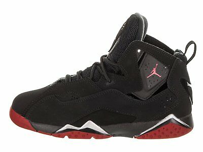 quality design 8ebe1 f0924 JORDAN TRUE FLIGHT BP Boys Preschool Black/Red-Metallic Silver 343796-003  Shoes