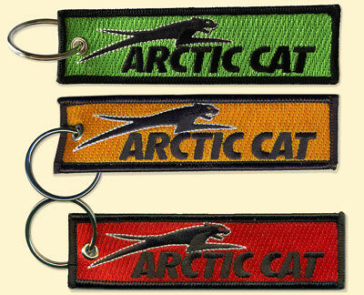 Arctic Cat Key Chain, for Snowmobiles, ATVs, outdoors, variations red, orange