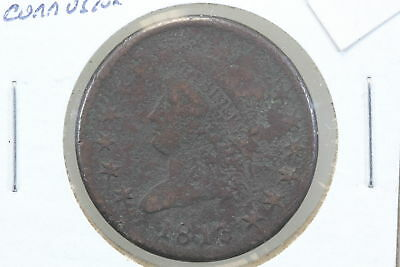 1813 Large Cent G Surface Corrosion
