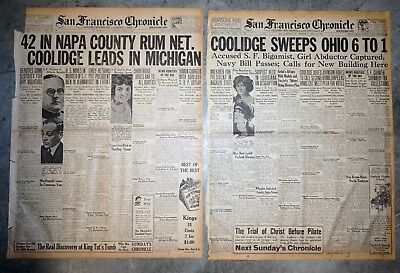 Calvin Coolidge Leads In Michigan & Sweeps Ohio Primaries - 1924 Newspaper Pages