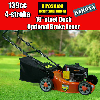 "NEW DAKOTA 18"" Lawnmower 139cc 4-stroke Lawn Mower with optional Brake"