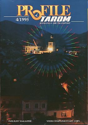 Tarom Profile Inflight Magazine 4/1995 Route Maps Romanian Air Transport