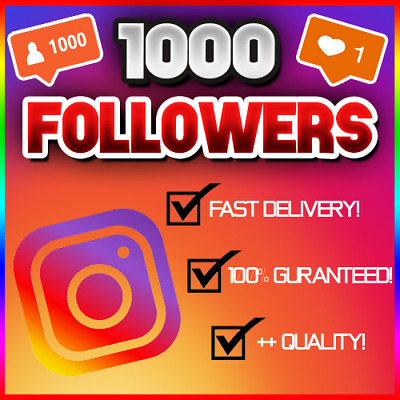 1,000 1K Instagram Follower (FAST/QUICK AND RELIABLE!) 100% GUARANTEED