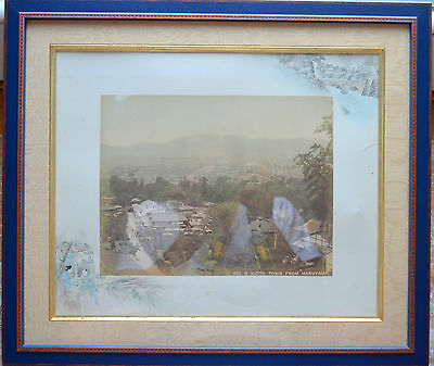 The Japanese aesthetic antique double-sided photo KIOTO TOWN FROM MARUYAMA 1860