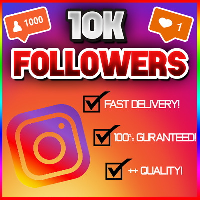 10,000 10K Instagram Follower (FAST/QUICK AND RELIABLE!) 100% GUARANTEED