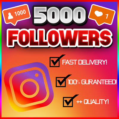 5,000 5K Instagram Follower (FAST/QUICK AND RELIABLE!) 100% GUARANTEED