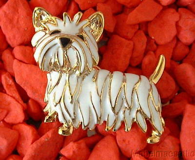 New Handcrafted Enamel WEST HIGHLAND TERRIER WESTIE Puppy DOG PIN Brooch