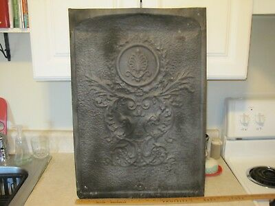 Vintage Metal  Fireplace Cover  Late 1800's  Rare And Beautiful!