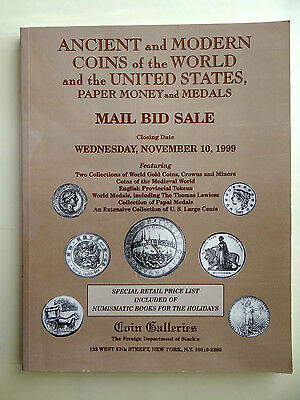 Stack's Auction Catalog November 1999 Ancient and Modern Coins World and US