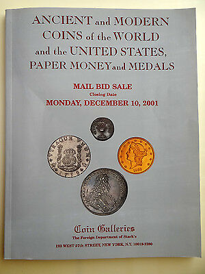 Stack's Auction Catalog December 2001 Ancient and Modern Coins the World and US