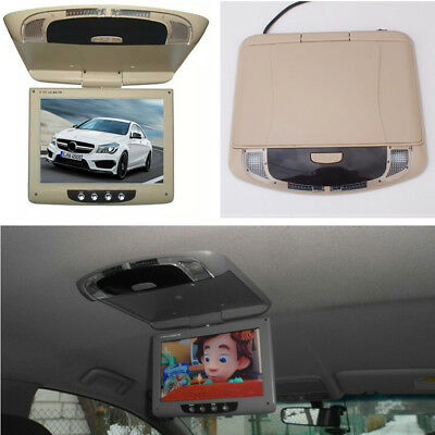 """9"""" TFT LCD Screen Car Flip Down Roof Monitor Overhead Player with Remote Control"""
