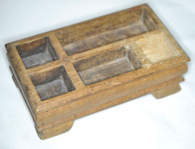 Antique Hand Carved Teak Betel Nut Box, Java