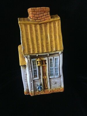 MID CENTURY TALL HOUSE CERAMIC COIN BANK JAPAN 60s 70s NORLEANS