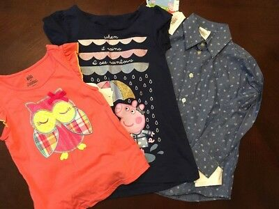 Lot Of 3 Girl Clothes Size 5 And 6x NWT