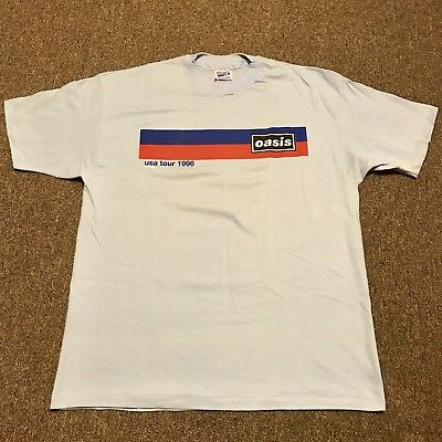 Deadstock 1996 OASIS USA Vintage Tour Shirt Size XL NOS Racing Stripes
