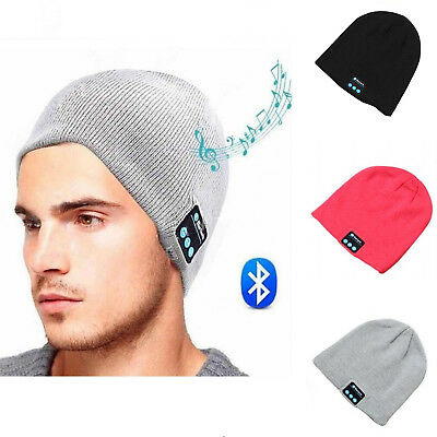 Wireless Bluetooth Headset Beanie Hat Music With Headphones Earphone Cycling Cap
