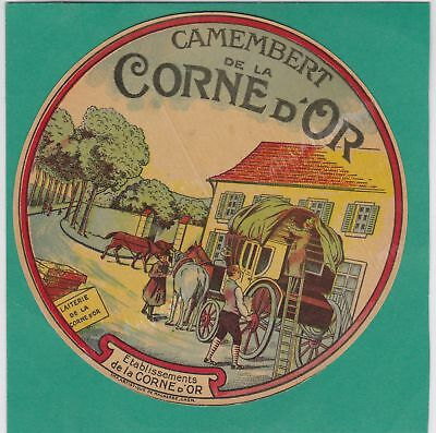 K698 Fromage Camembert Corne D Or Diligence Chevaux