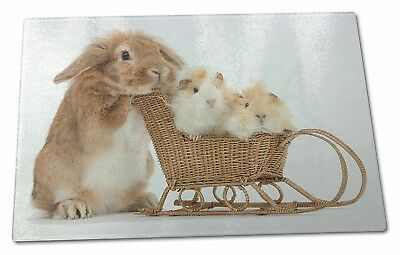 Rabbit and Guinea Pigs Extra Large Toughened Glass Cutting, Chopping Board