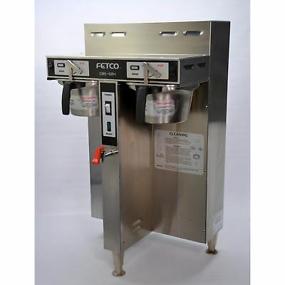 Fetco CBS-52H Twin Dual 1.5-Gallon Thermal Coffee Brewer Commercial Plumbed