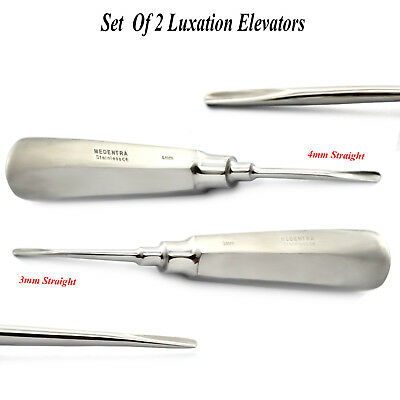 Set Of 2 Luxation Elevators Tooth Loosening Root Luxating Surgery Extraction New