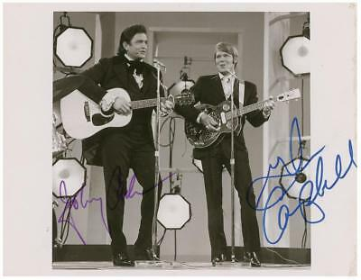 Johnny Cash & Glen Campbell 5x7 Signed Autograph RP
