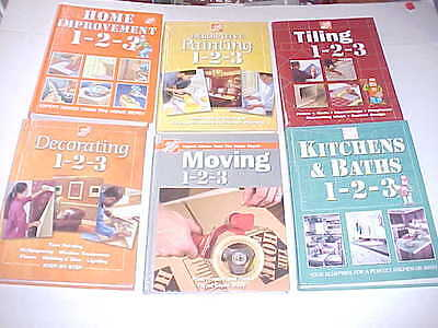 Home Depot Books Hard cover lot of 6