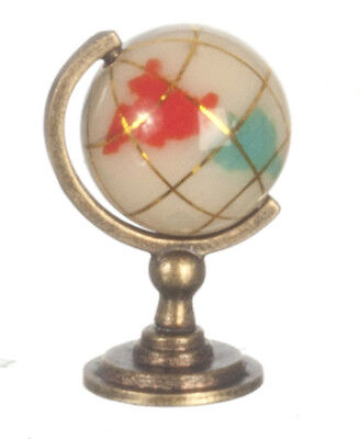 Marble & Copper Small World Globe, Dolls House Miniature, Study.