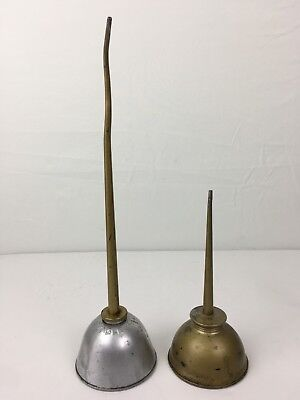 Lot of Two Vintage EAGLE Oiler Oil Cans MADE in USA