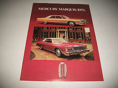 1975 Mercury Marquis Sales Brochure Catalog Marquis Brougham Grand Marquis Clean
