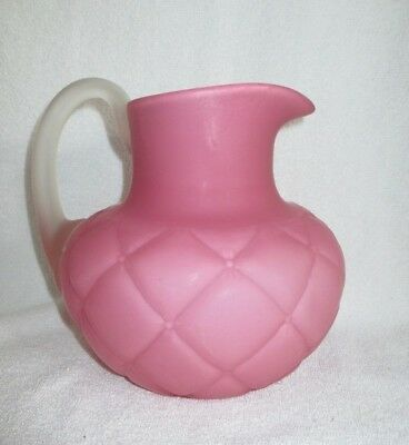 "EAPG FLORETTE Pink Satin 7 3/4"" Water Pitcher ca1894 Consolidated Glass BEAUTY"