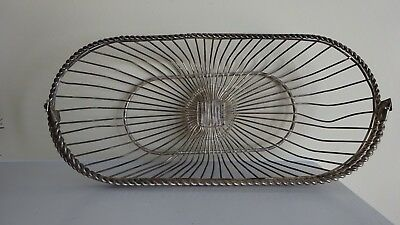 Ornate Vintage Metal Wire Basket - French Farmhouse Style