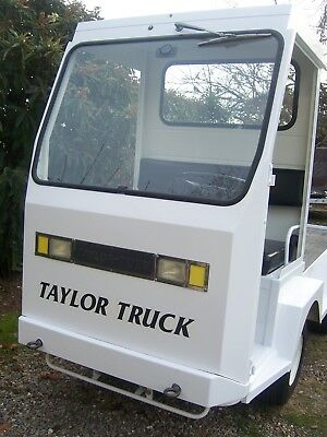 TAYLOR-DUNN industrial flatbed electric utility cart BURDEN CARRIER 48 volt exc