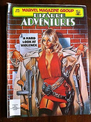 Bizarre Adventures NO 31 1982 Marvel Magazine group FN a hard look at violence