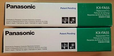 4 Genuine Panasonic KX-FA55 Replacement Ink Film (2) 2-Rolls Value Packs