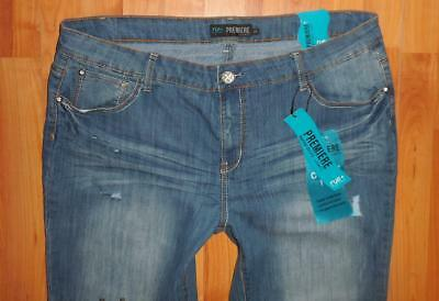 c77fa10d273 NWT RUE 21 Plus PREMIERE Womens Skinny Distressed Jeans Size 20 ...