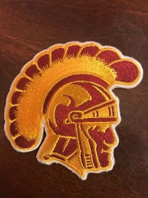 """USC Southern Cal Trojans Embroidered Iron On Patch Old Stock) 2.5"""" X 2.5"""""""