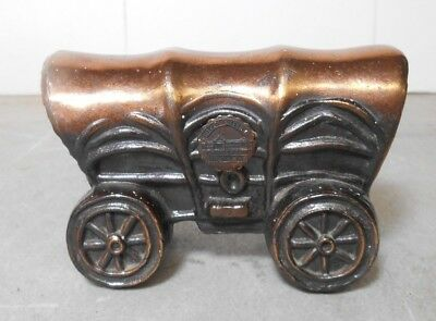 Vintage Blecher Bronze Copper Cast Metal Covered Wagon -Field Museum, Chicago