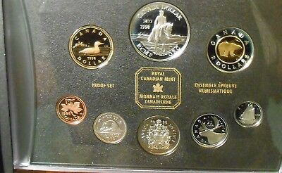 1998 CANADA RCM SILVER DOUBLE DOLLAR PROOF SET 125th ANNIVERSARY OF THE RCMP