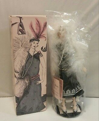 1989 Avon Fashion of American Times Porcelain Doll - Roaring Twenties - NIB