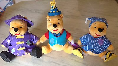 Lot Vintage Disney Mattel 1998 Jointed Winnie the Pooh Plush