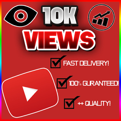 10,000 10K Youtube View (FAST/QUICK AND RELIABLE!) 100% GUARANTEED