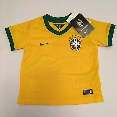 Nike Brazil Baby Infant Football Shirt New 6-9 Months Of Age