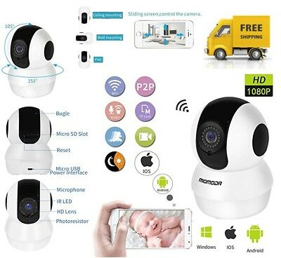Wireless WiFi IP Camera 1080P HD Indoor Baby Monitor with 2 Talk & Pan/Tilt