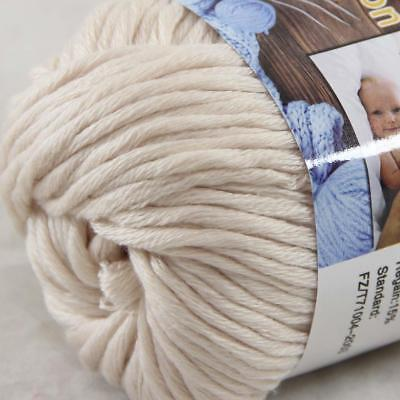Hot Sale 1Ball X 50g Thick Chunky DIY Worsted 100% Cotton HAND Knitting Yarn 31